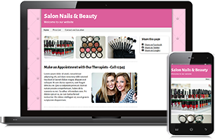 Beauty website example